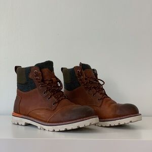 Tom's Burnished Leather Wool Men's Ashland Boots
